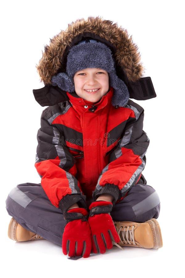 chłopcy ubraniowa zimy. fotografia royalty free