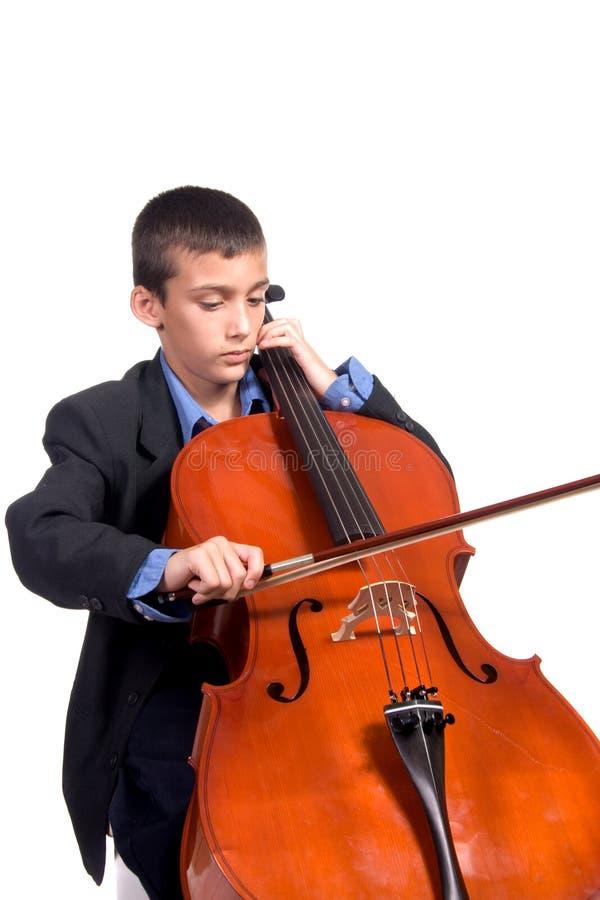 chłopcy wiolonczeli grać zdjęcia stock