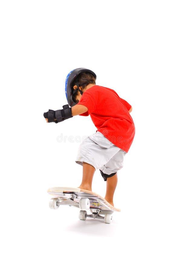 chłopiec łyżwa fotografia royalty free