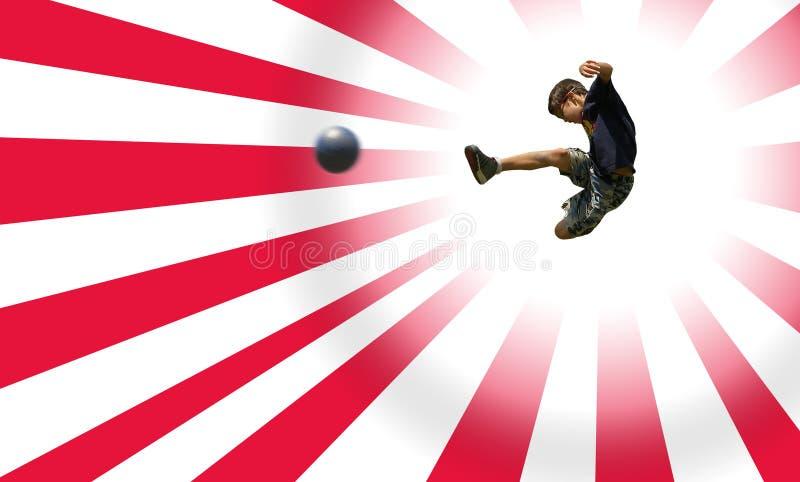 chłopiec ścinku ścieżka bawić się piłkę nożną zdjęcie stock
