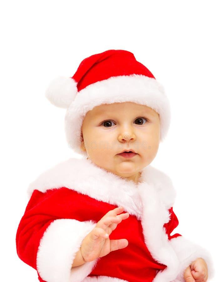 Chłopiec Święty Mikołaj. Portret. zdjęcie stock