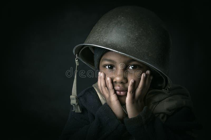 Chłopiec żołnierz zdjęcia royalty free