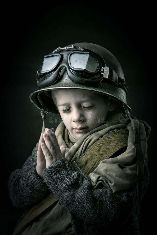 Chłopiec żołnierz obrazy royalty free