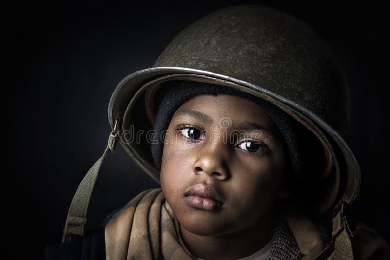 Chłopiec żołnierz fotografia stock