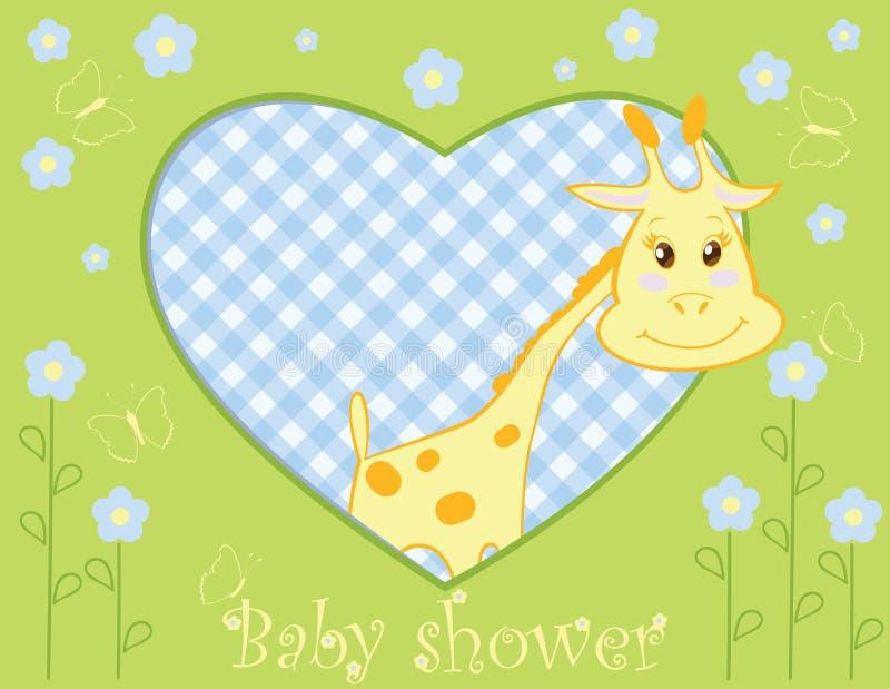 chłopiec żyrafa ilustracji