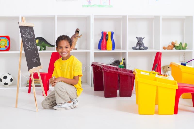 chłopiec afrykański preschool obraz royalty free