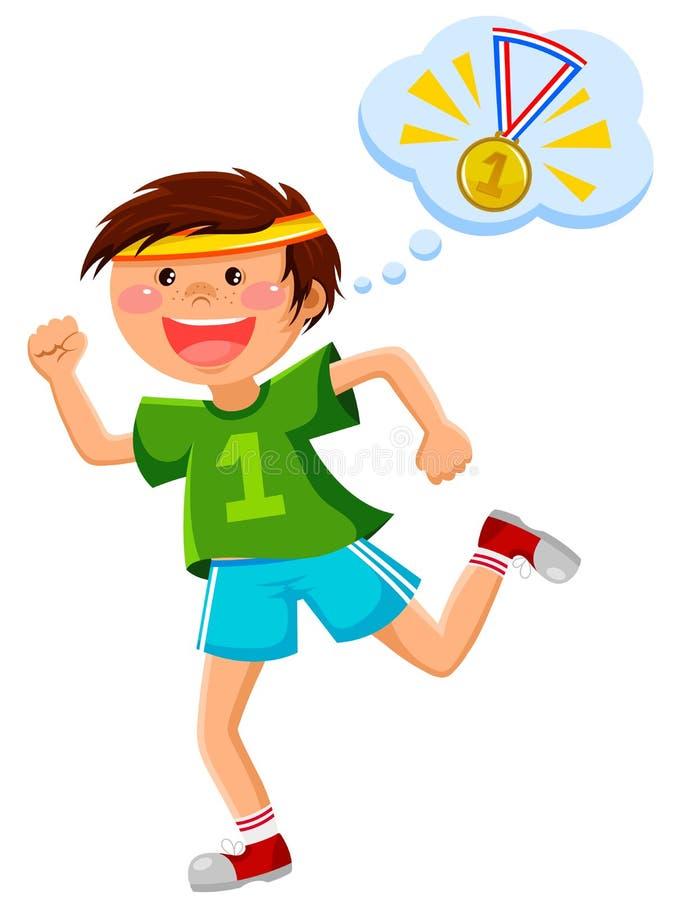 Download Ambitny biegacz ilustracja wektor. Ilustracja złożonej z mężczyzna - 29851031