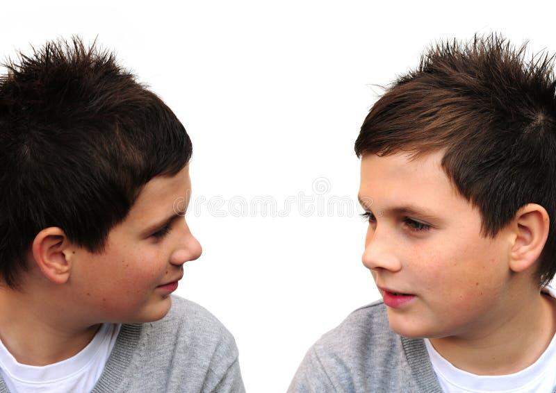 chłopiec bliźniak zdjęcie royalty free