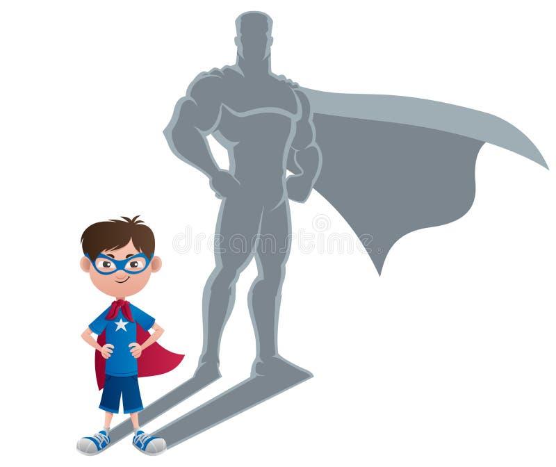 Chłopiec bohatera pojęcie ilustracji