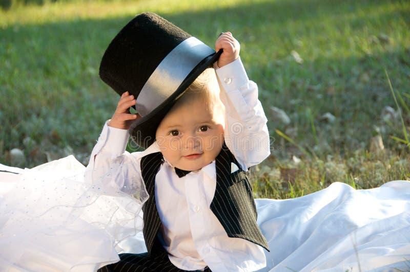 chłopiec butli fornala kostium obraz royalty free