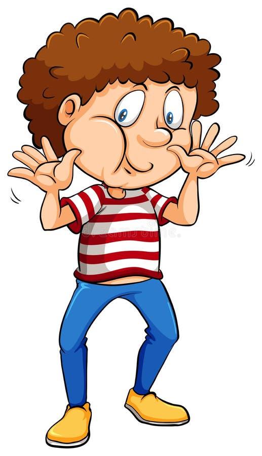 Chłopiec być ubranym lampasy koszulowi ilustracji