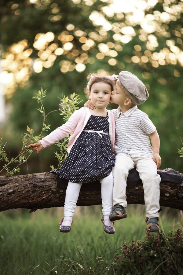 Download Chłopiec całuje dziewczyny zdjęcie stock. Obraz złożonej z joyce - 28951640