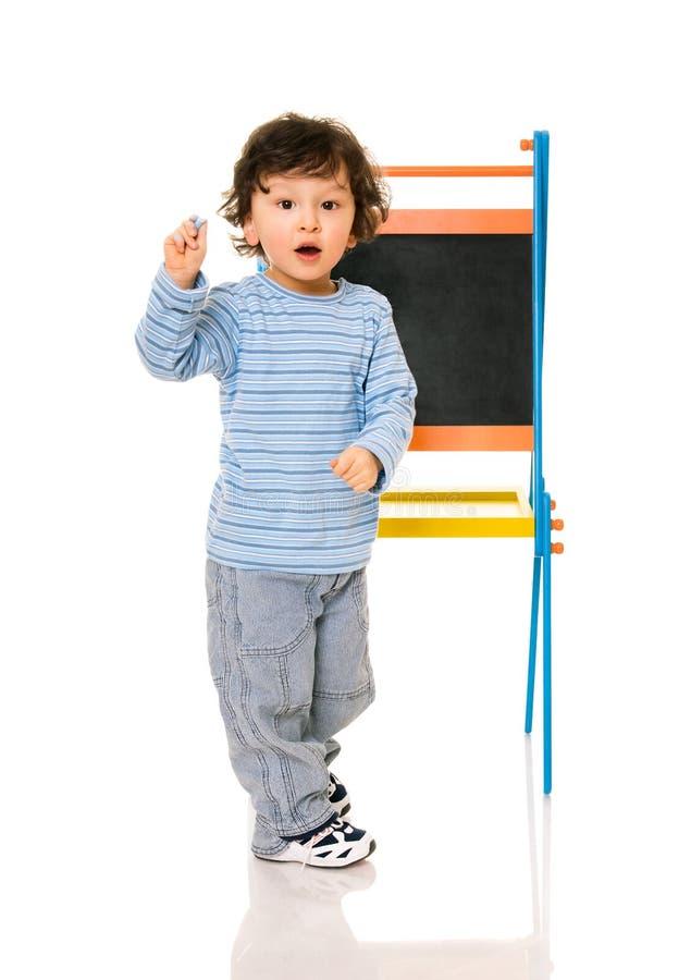 chłopiec chalkboard zdjęcia royalty free