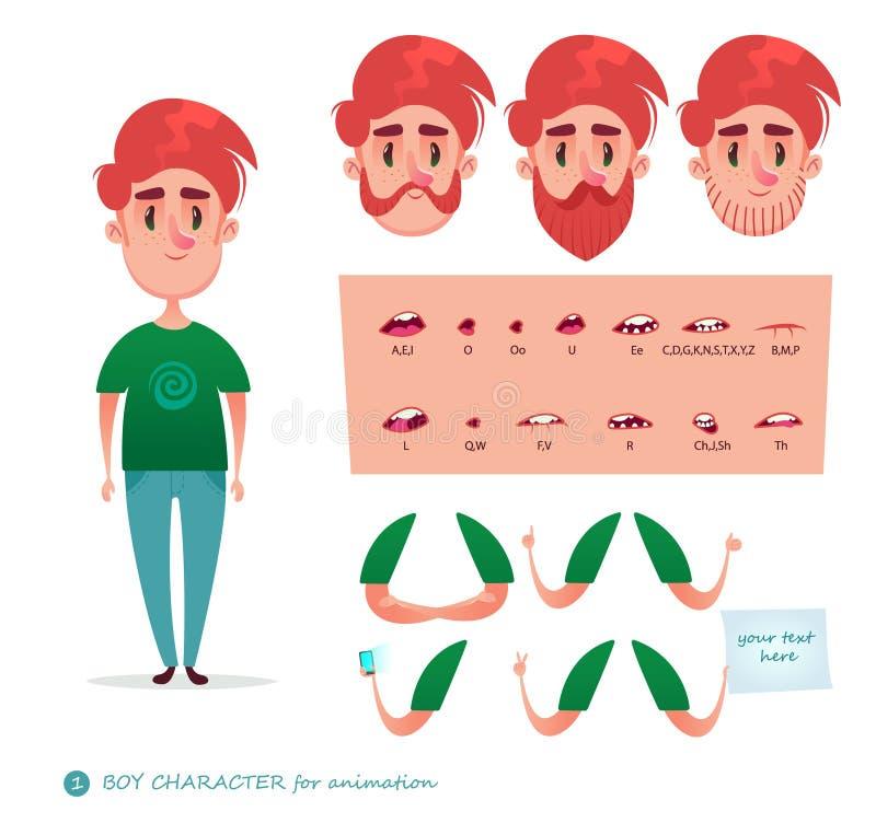 Chłopiec charakter dla twój scen ilustracji