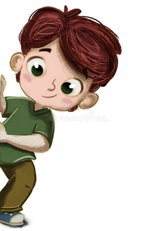 Chłopiec chuje bawić się ilustracja wektor