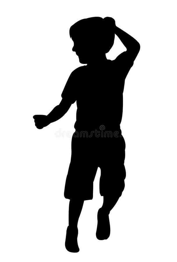 Chłopiec ciało, sylwetka royalty ilustracja