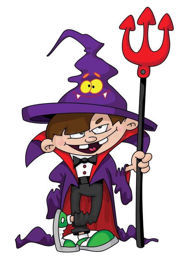 chłopiec czarownik ilustracji
