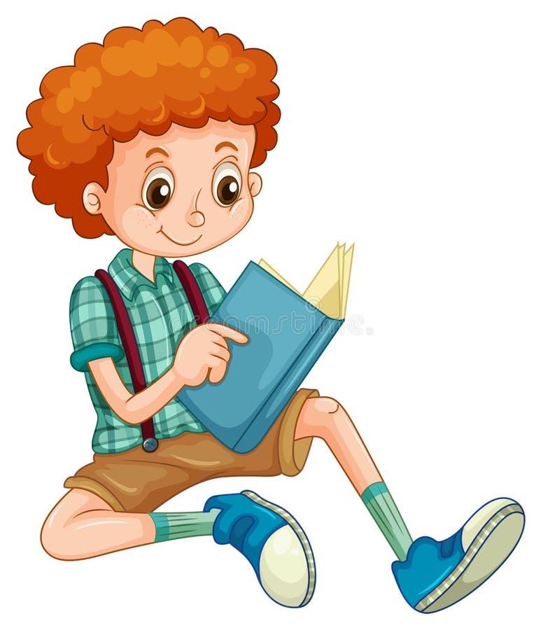 Chłopiec czytanie royalty ilustracja