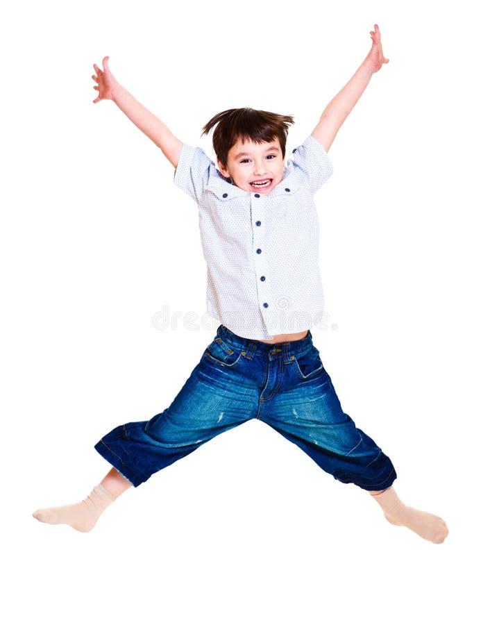 chłopiec doskakiwanie obraz stock