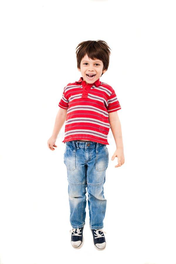 Chłopiec doskakiwanie obrazy royalty free