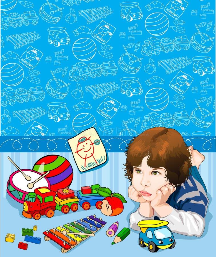 chłopiec dzieci deseniowy s zdjęcia stock