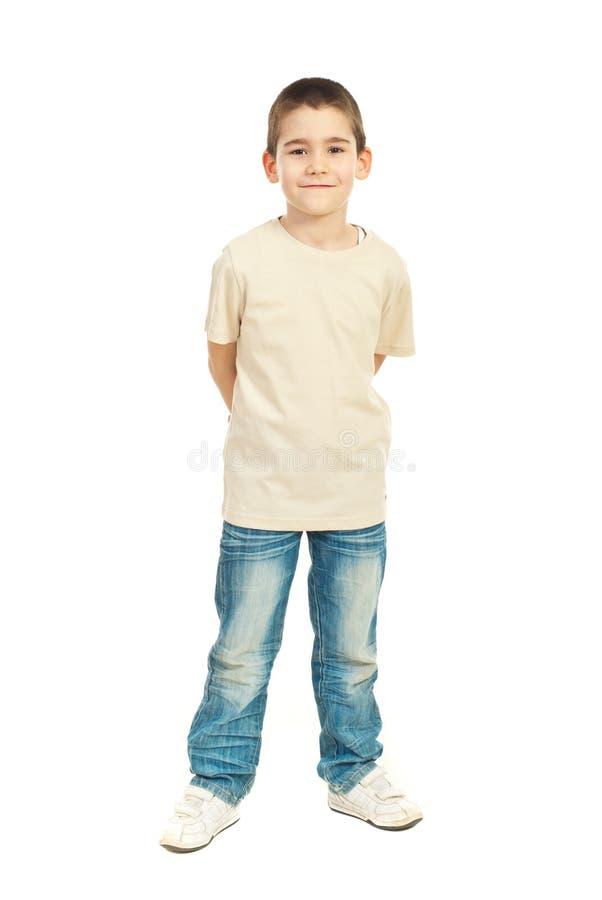 chłopiec dziecko folująca długość fotografia royalty free