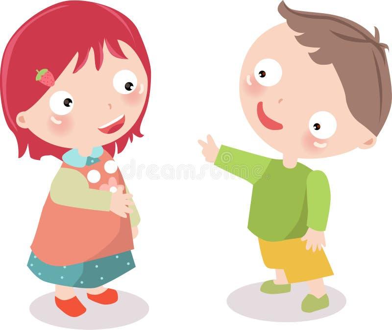 chłopiec dziewczyna ilustracja wektor