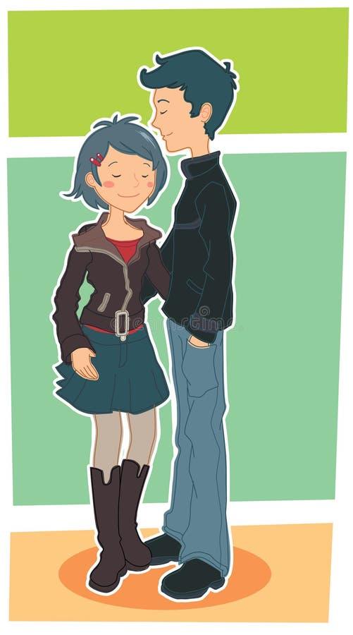 chłopiec dziewczyna ilustracji