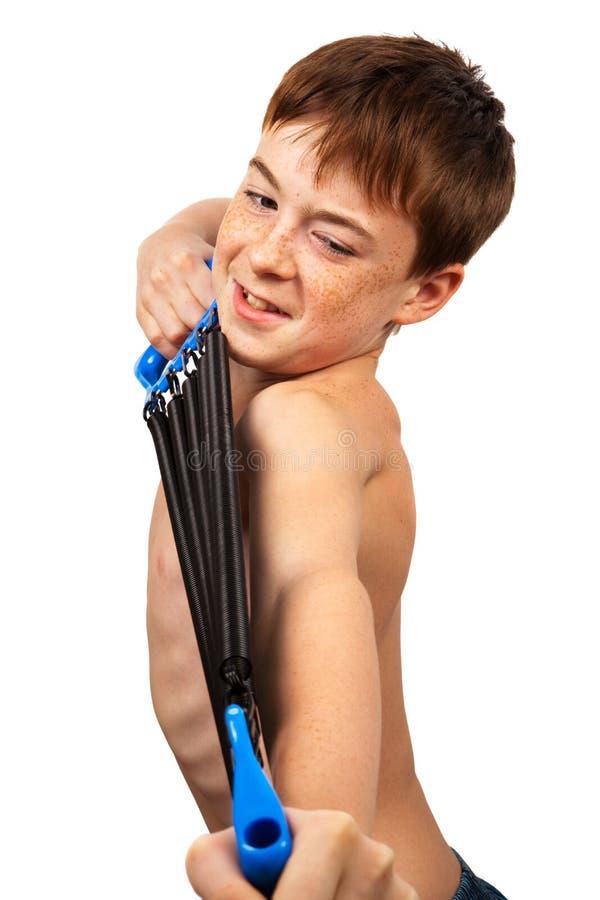 chłopiec expander zdjęcie stock