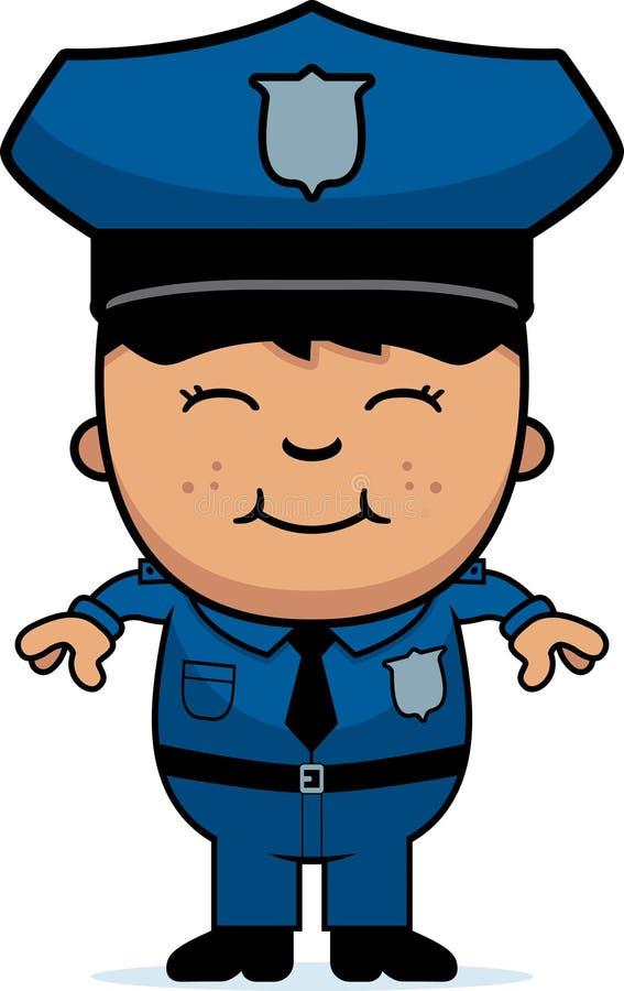 Chłopiec funkcjonariusz policji royalty ilustracja