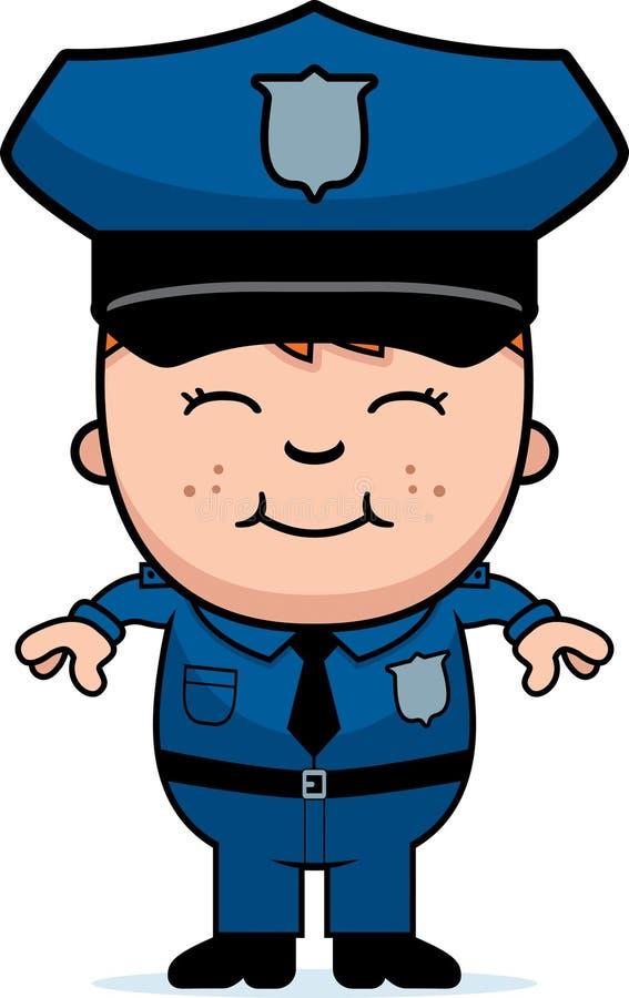 Chłopiec funkcjonariusz policji ilustracji
