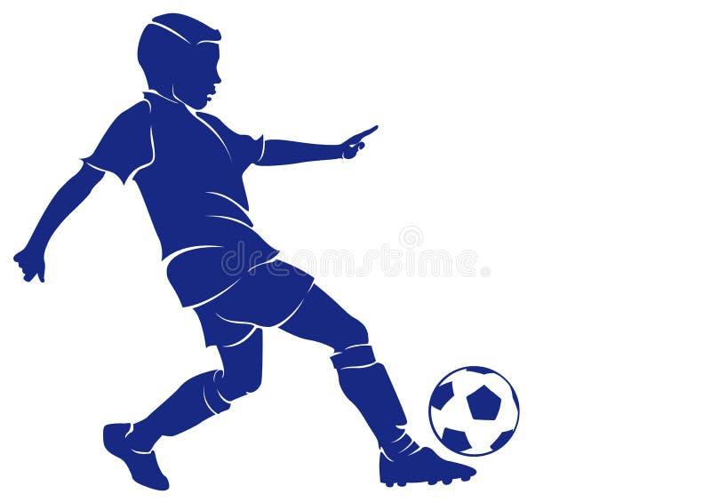 Chłopiec futbolista ilustracji
