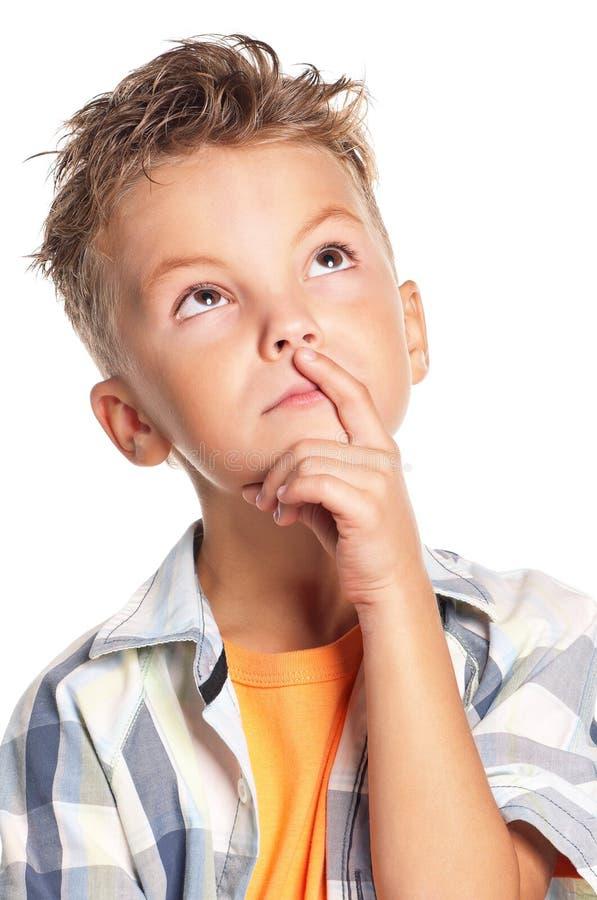 Chłopiec główkowanie zdjęcie stock