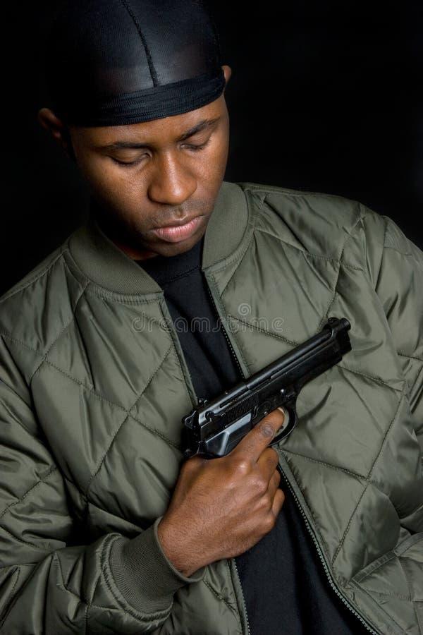chłopiec gangstera pistolet zdjęcia royalty free