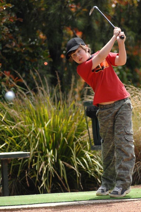 chłopiec golfista zdjęcia royalty free