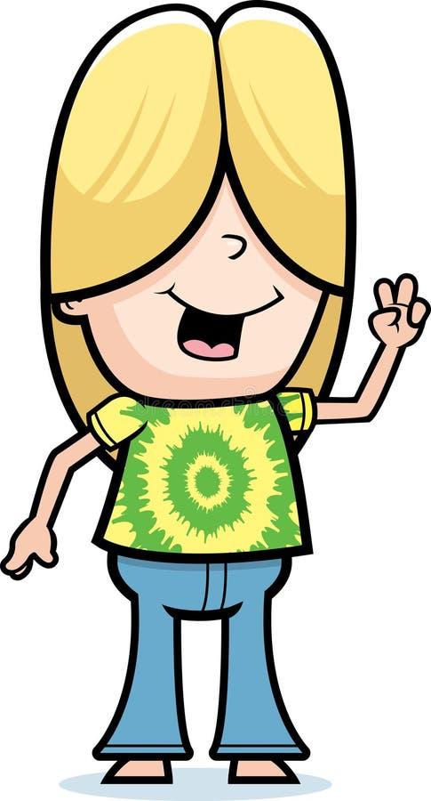 chłopiec hipis ilustracji