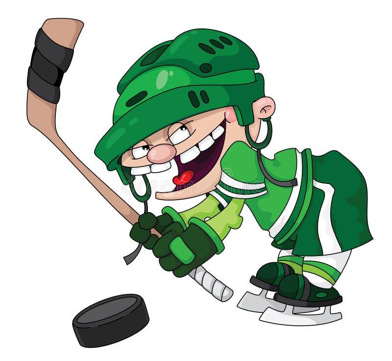 chłopiec hokej royalty ilustracja