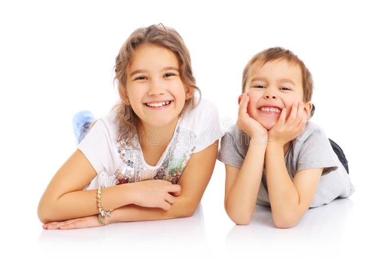 Chłopiec i dziewczyna obrazy stock