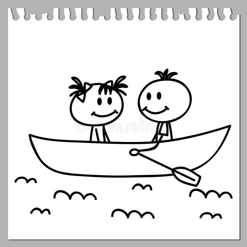 Chłopiec i dziewczyna ilustracji