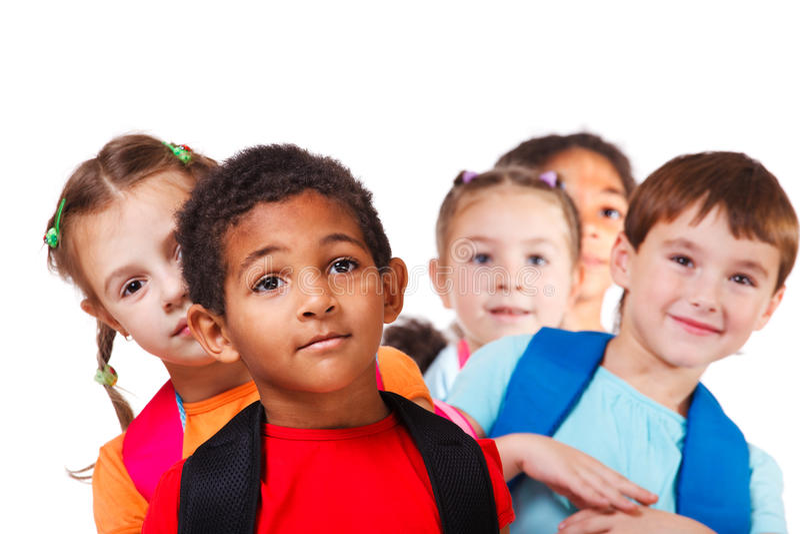 Chłopiec i jego przyjaciele zdjęcie royalty free
