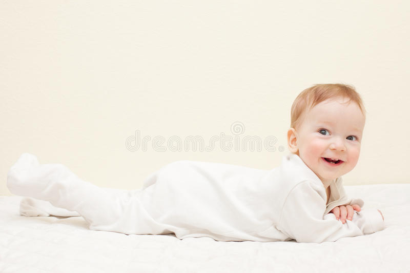 chłopiec ja target608_0_ szczęśliwy zdjęcie royalty free