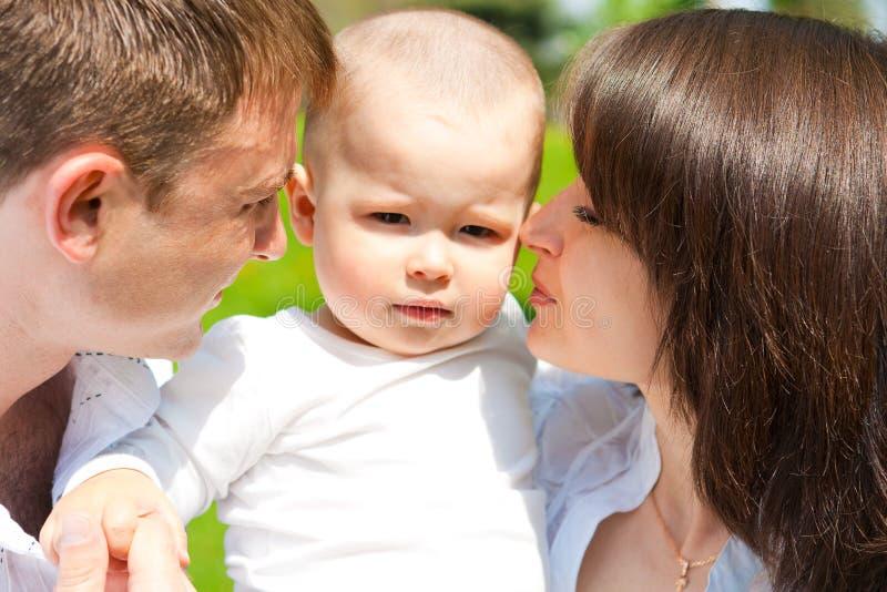chłopiec jego rodzice obraz stock