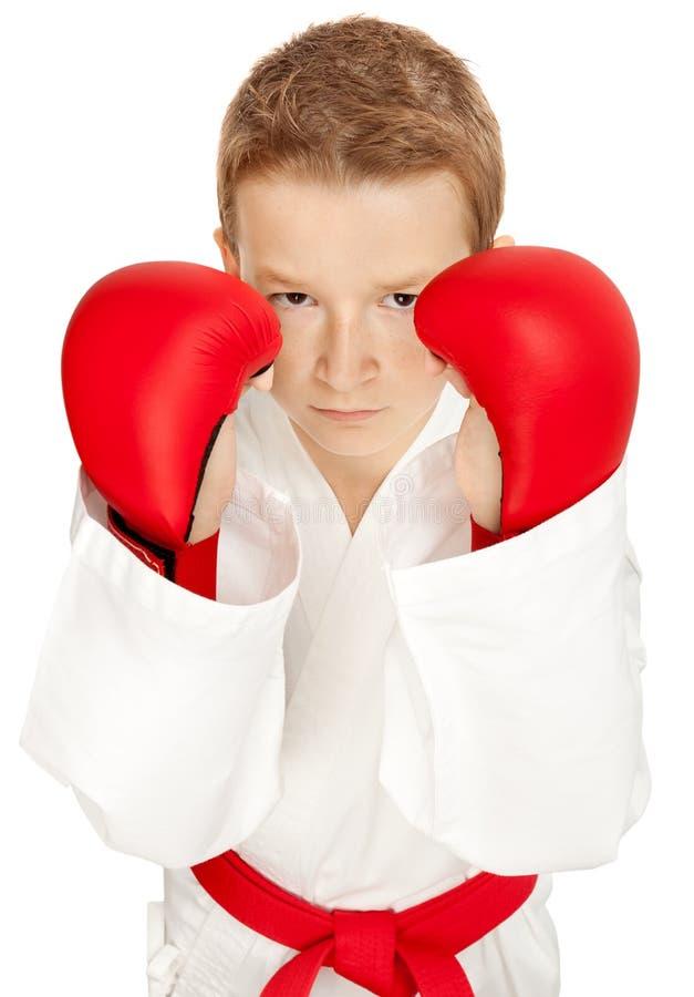 chłopiec karate zdjęcia royalty free
