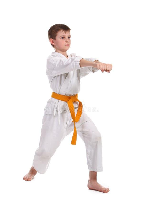 chłopiec karate mała praktyka obrazy royalty free