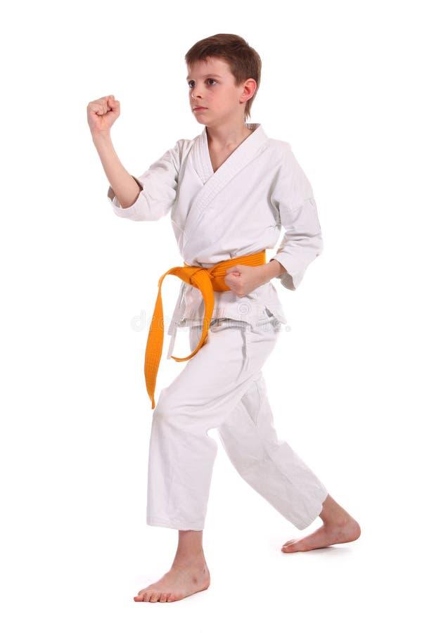 chłopiec karate mała praktyka fotografia royalty free