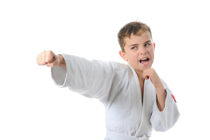 chłopiec karate stażowi potomstwa fotografia stock