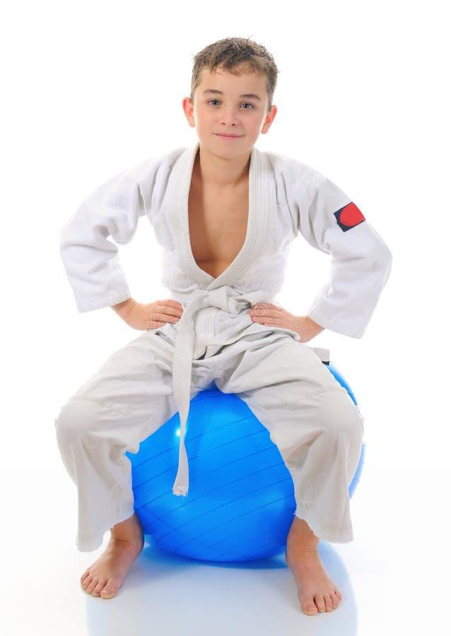 chłopiec karate stażowi potomstwa obrazy stock