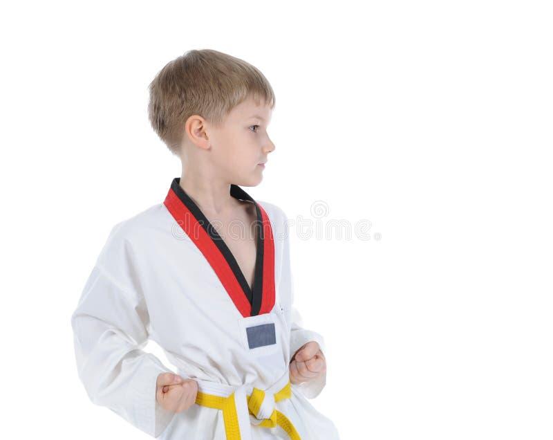 chłopiec kimono fotografia royalty free