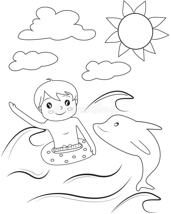 Chłopiec kolorystyki strona ilustracji