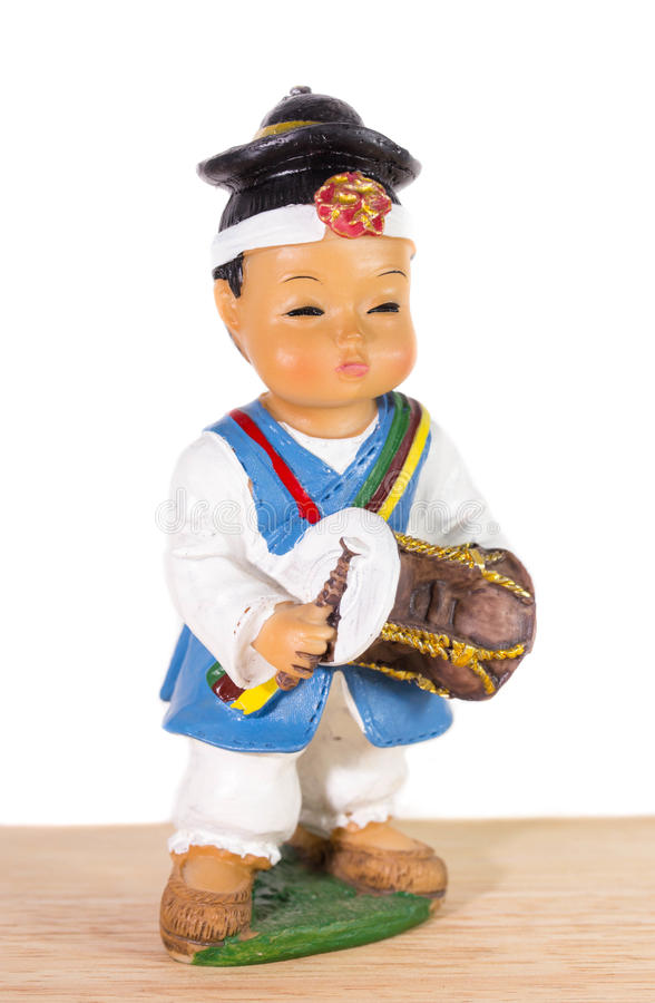 Chłopiec koreańczyka lala obrazy stock